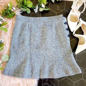 Marc Jacobs Blue & White Wool Skirt